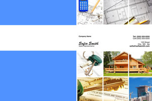 Button to customize design General Construction / Renovation Pocket Folders Template: 338849