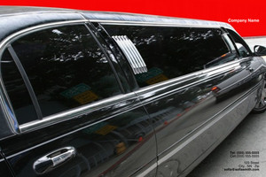 Limousine  Chauffeur Pocket Folders Template: 349852