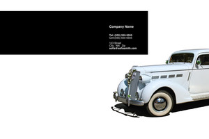 Limousine  Chauffeur Pocket Folders Template: 349859