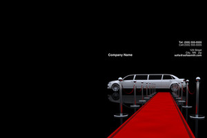 Limousine  Chauffeur Pocket Folders Template: 349871