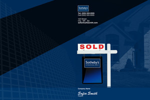 Button to customize design Sotheby Pocket Folders Template: 502011
