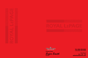Button to customize design Royal LePage Pocket Folders Template: 530163