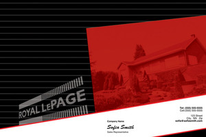 Button to customize design Royal LePage Pocket Folders Template: 316815