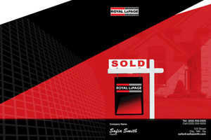 Button to customize design Royal LePage Pocket Folders Template: 500443