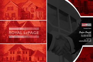 Button to customize design Royal LePage Pocket Folders Template: 500449