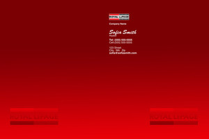 Button to customize design Royal LePage Pocket Folders Template: 504143