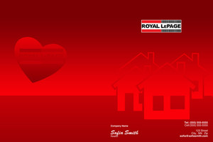 Button to customize design Royal LePage Pocket Folders Template: 504163