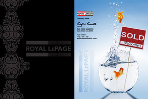 Button to customize design Royal LePage Pocket Folders Template: 500453