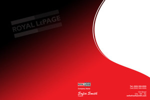 Button to customize design Royal LePage Pocket Folders Template: 500461
