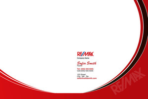 Button to customize design Re/max , Remax Pocket Folders Template: 499537