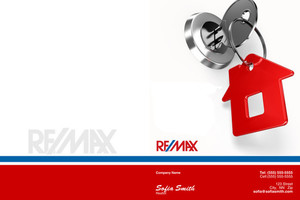 Button to customize design Re/max , Remax Pocket Folders Template: 499475