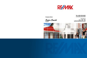 Button to customize design Re/max , Remax Pocket Folders Template: 499509