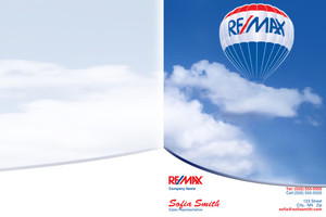 Button to customize design Re/max , Remax Pocket Folders Template: 343073