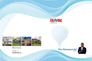 Button to customize design Re/max , Remax Pocket Folders Template: 576581