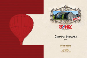 Button to customize design Re/max , Remax Pocket Folders Template: 576593