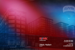 Button to customize design Re/max , Remax Pocket Folders Template: 576627