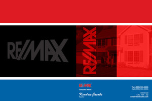 Button to customize design Re/max , Remax Pocket Folders Template: 499491