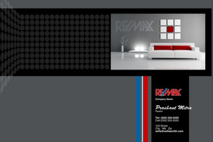 Button to customize design Re/max , Remax Pocket Folders Template: 499497