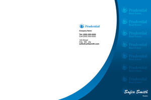 Button to customize design Prudential Pocket Folders Template: 499601