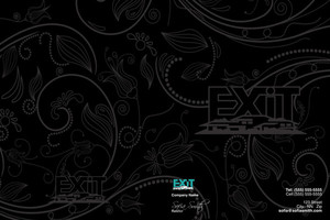 Button to customize design Exit Pocket Folders Template: 501663