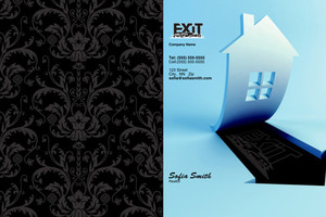 Button to customize design Exit Pocket Folders Template: 501695