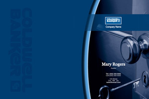 Button to customize design Coldwell Banker Pocket Folders Template: 490143