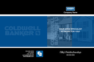 Button to customize design Coldwell Banker Pocket Folders Template: 584085