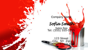 Painting Business Cards Template: 597485