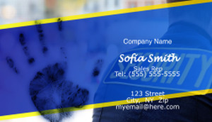 Security Business Cards Template: 597629