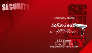 Security Business Cards Template: 597641