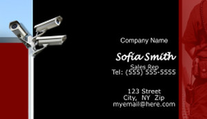 Security Business Cards Template: 597645