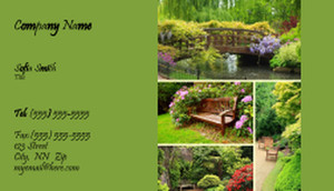 Landscaping Services Business Cards Template: 335205