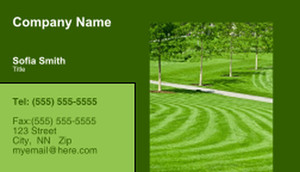 Landscaping Services Business Cards Template: 335207