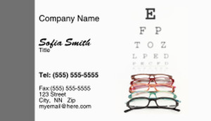 Optometrist Business Cards Template: 328476