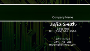 Electronics Business Cards Template: 597057