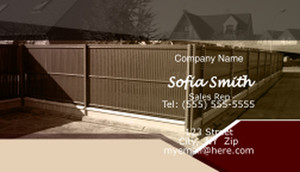 Fences Business Cards Template: 597097