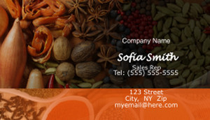 Food Business Cards Template: 597165