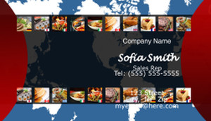 Food Business Cards Template: 597173