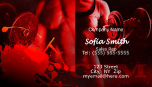 Gym / Fitness Business Cards Template: 597181