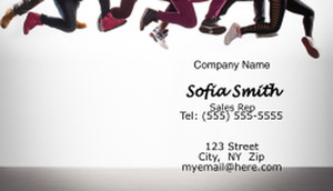Dancing Business Cards Template: 596957