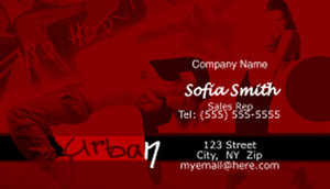 Dancing Business Cards Template: 596965