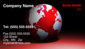 Globes - World Business Cards Template: 308718