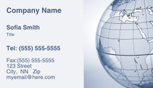 Globes - World Business Cards Template: 308730