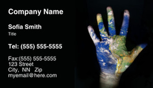 Globes - World Business Cards Template: 308739