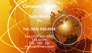 Globes - World Business Cards Template: 308757