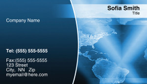 Globes - World Business Cards Template: 312611