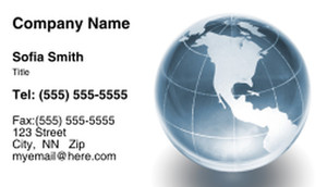 Globes - World Business Cards Template: 308725