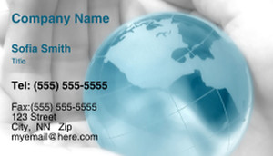 Globes - World Business Cards Template: 321616