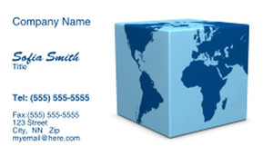 Globes - World Business Cards Template: 328253