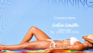Tanning Business Cards Template: 597673